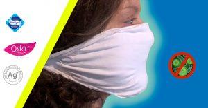 Mascherina batteriostatica in cotone lavabile